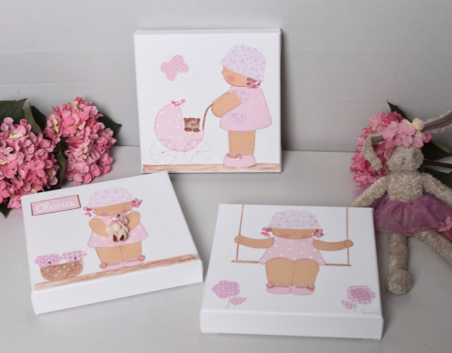 cuadros infantiles personalizados decoración habitación infantil