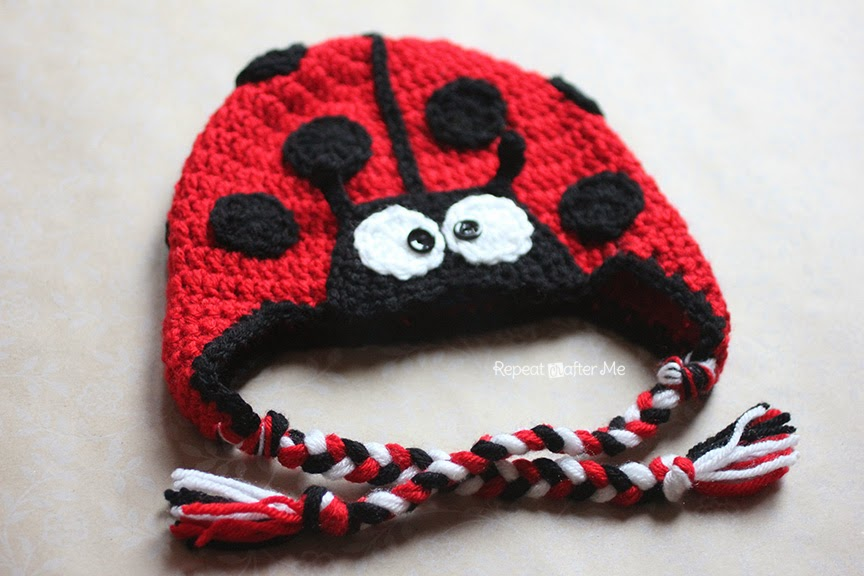 Crochet Ladybug Hat Pattern Repeat Crafter Me