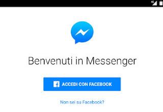 messenger app senza account