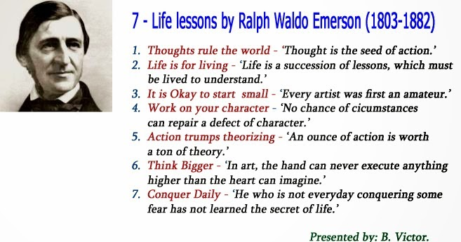Life Lessons By Ralph Waldo