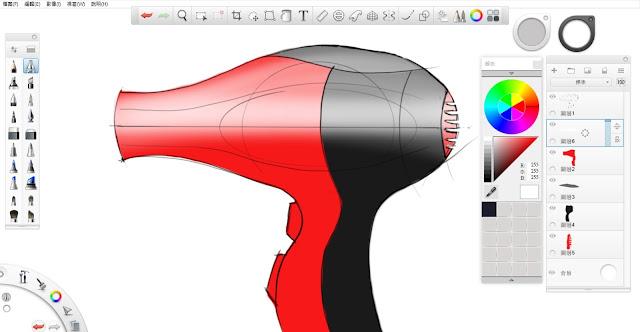 Sketchbook Pro 快速設計表現技法教學7