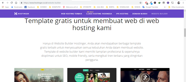 template website hostinger