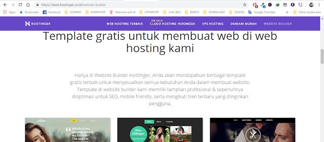 template website hostinger