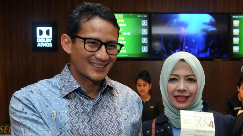 Sandiaga Uno (kiri), kandidat calon Gubernur DKI oleh Gerindra