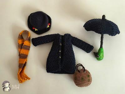 Accesorios Mary Poppins amigurumi