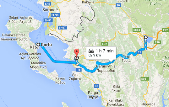 Ioannina Greece Map.Jaik S Travel Blog Day 15 Corfu Ioannina