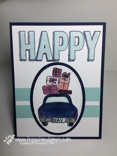 Wonderful Life, Birthday Cards, Blends, Happy Celebration, Frenchiestamps, Stampin'Up!,