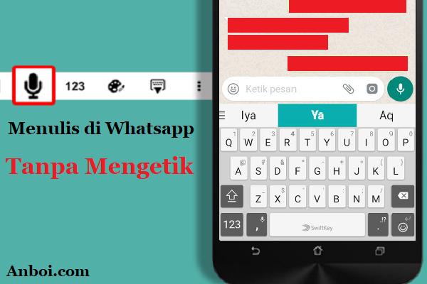 Cara Menulis Pesan dengan Suara di Whatsapp