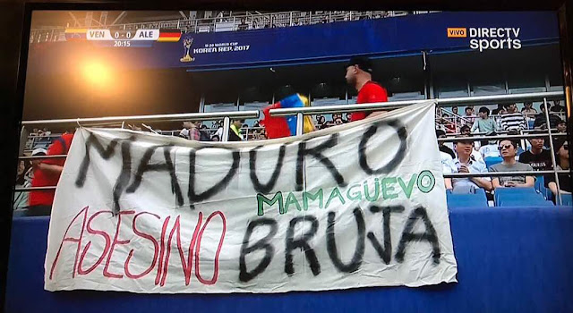 Venezuela le gana a Alemania en Fútbol y Maduro Asesino