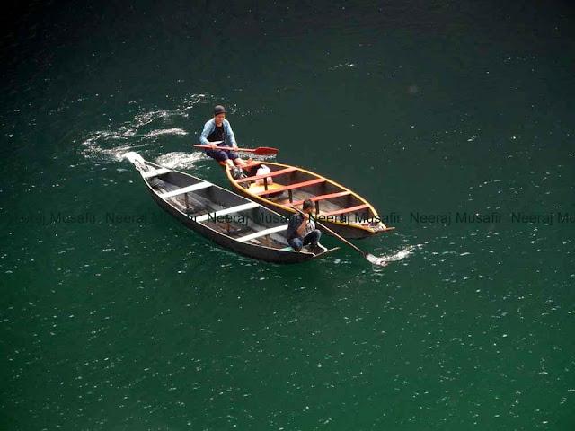 Boating in Dawki Meghalaya