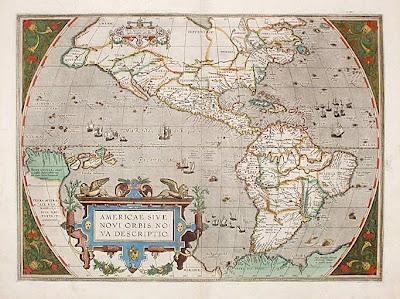 Abraham Ortelius: Americae sive Novi Orbis, Nueva Descriptio