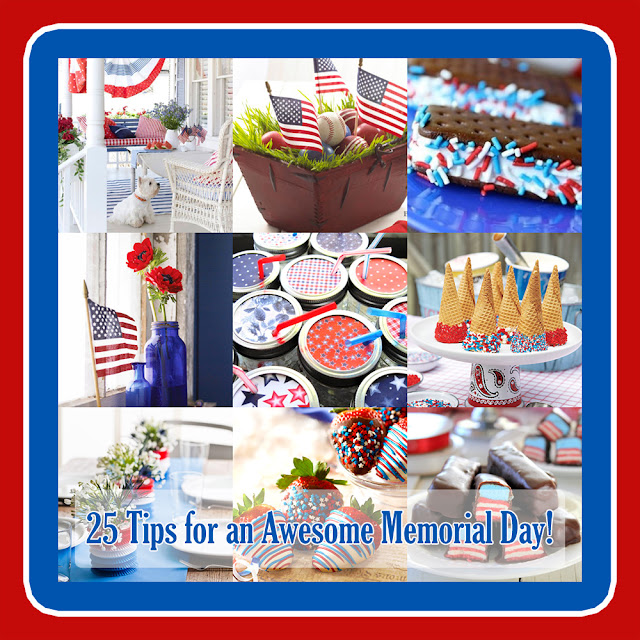 These memorial day decorating ideas are festive and fun.