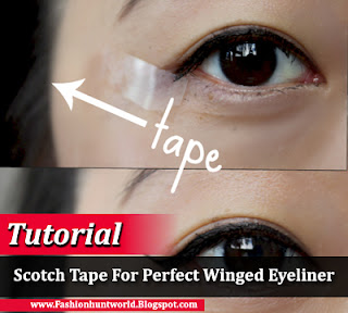 How Use Scotch Tape For Perfect Winged Eyeliner - Fashion ...
