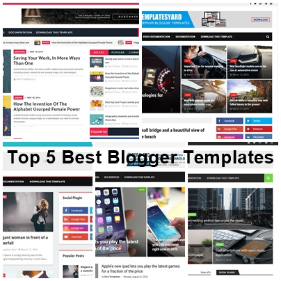 top 5 best blogger templates responsive and seo friendly