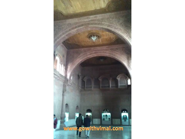 Junagarh fort museum ceiling