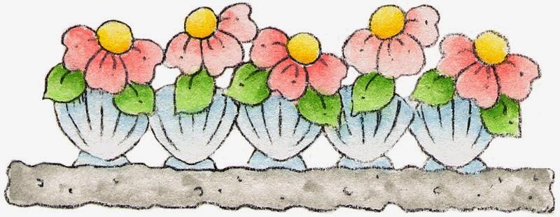 Flores En Caricatura: Bordes Y Esquinas Para Imprimir