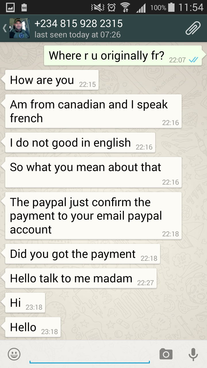 Scams and Crimes in Malaysia: Scam through Whatsapp - Try to buy