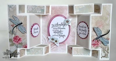 Stamp/Die Duos: Friend to Friend  Stamp Set: Sentiments Collection 3  Custom Dies: Double Display Card, Double Display Layers, Fancy Circles, Filigree Circles, Ornate Ovals, Ovals, Bitty Blossoms  Paper Collection: Shabby Rose, Shabby Pastels