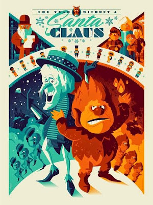 The Year Without A Santa Claus Variant Screen Print by Tom Whalen