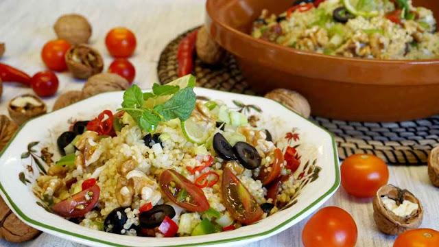 como hacer tabulé de quinoa y bulgur