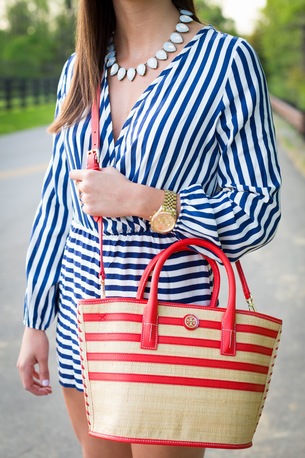 A Southern Drawl Stripe Romper Local Kentucky Tee