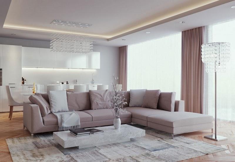 Hogares frescos una lujosa sala de estar con un gran for Desarrollar una gran sala de estar