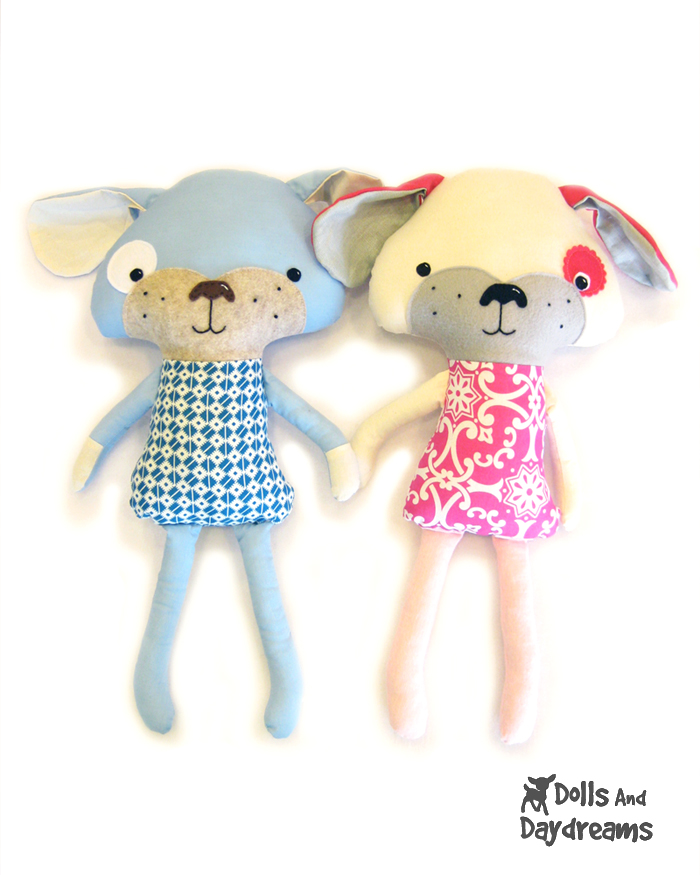 Dolls And Daydreams - Doll And Softie PDF Sewing Patterns: Puppy Dog ...