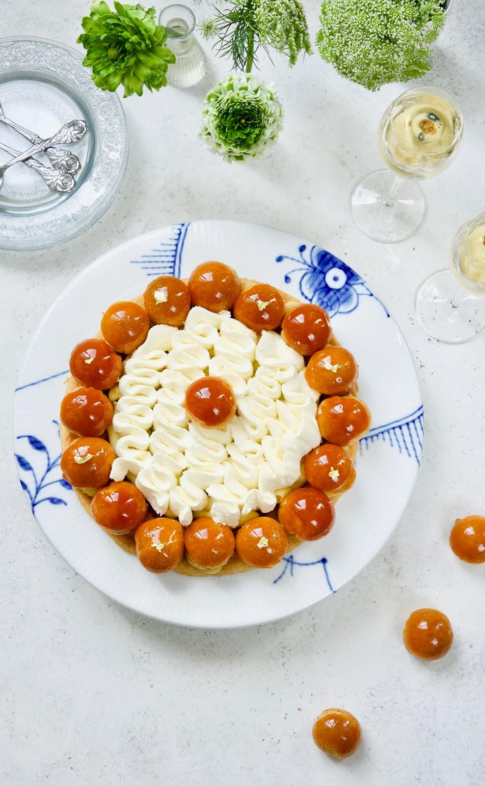 patisserie française , St Honoré , Choux crème vanille , dessert de fêtes