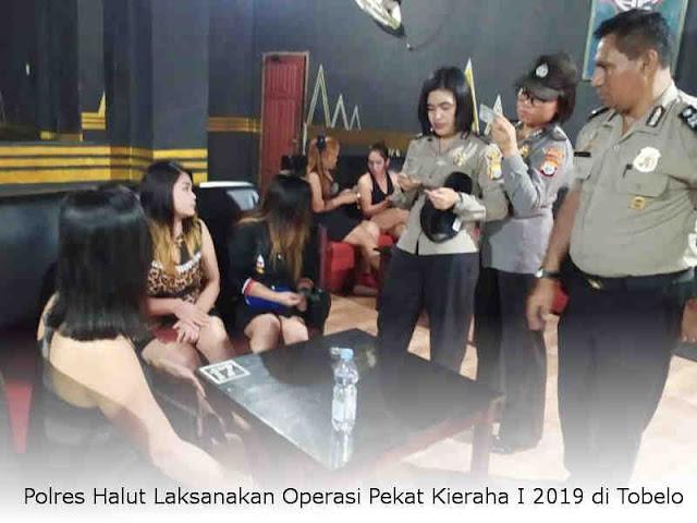 Polres Halut Laksanakan Operasi Pekat Kieraha I 2019 di Tobelo