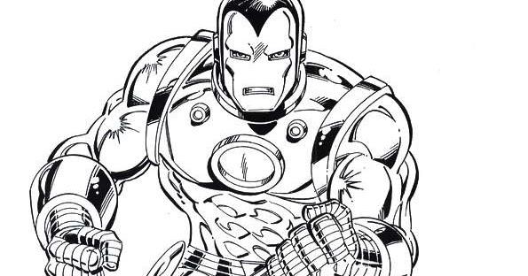 Iron Man Da Stampare: Iron Man Da Colorare E Stampare