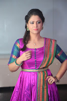Shilpa Chakravarthy in Purple tight Ethnic Dress ~  Exclusive Celebrities Galleries 058.JPG