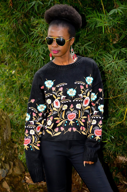 How to Wear an Embroidered Sweater