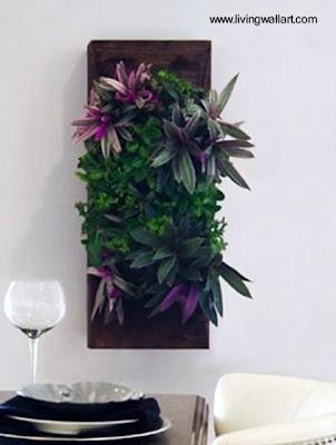 Panel con plantas de interior