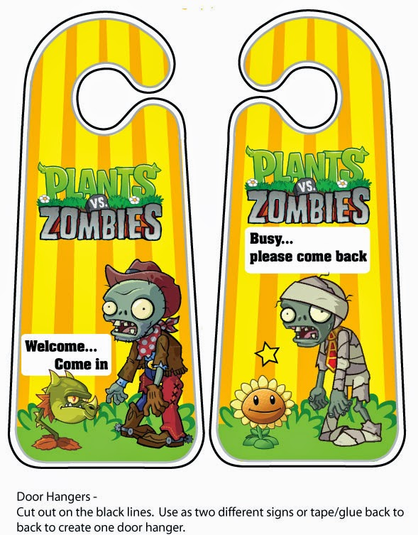 To put on the doors of  Plants vs Zombies.