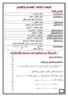 حمل احدث مذكرة في الرياضيات للاستاذ احمد حسن للصف السادس الابتدائي الترم الثاني
