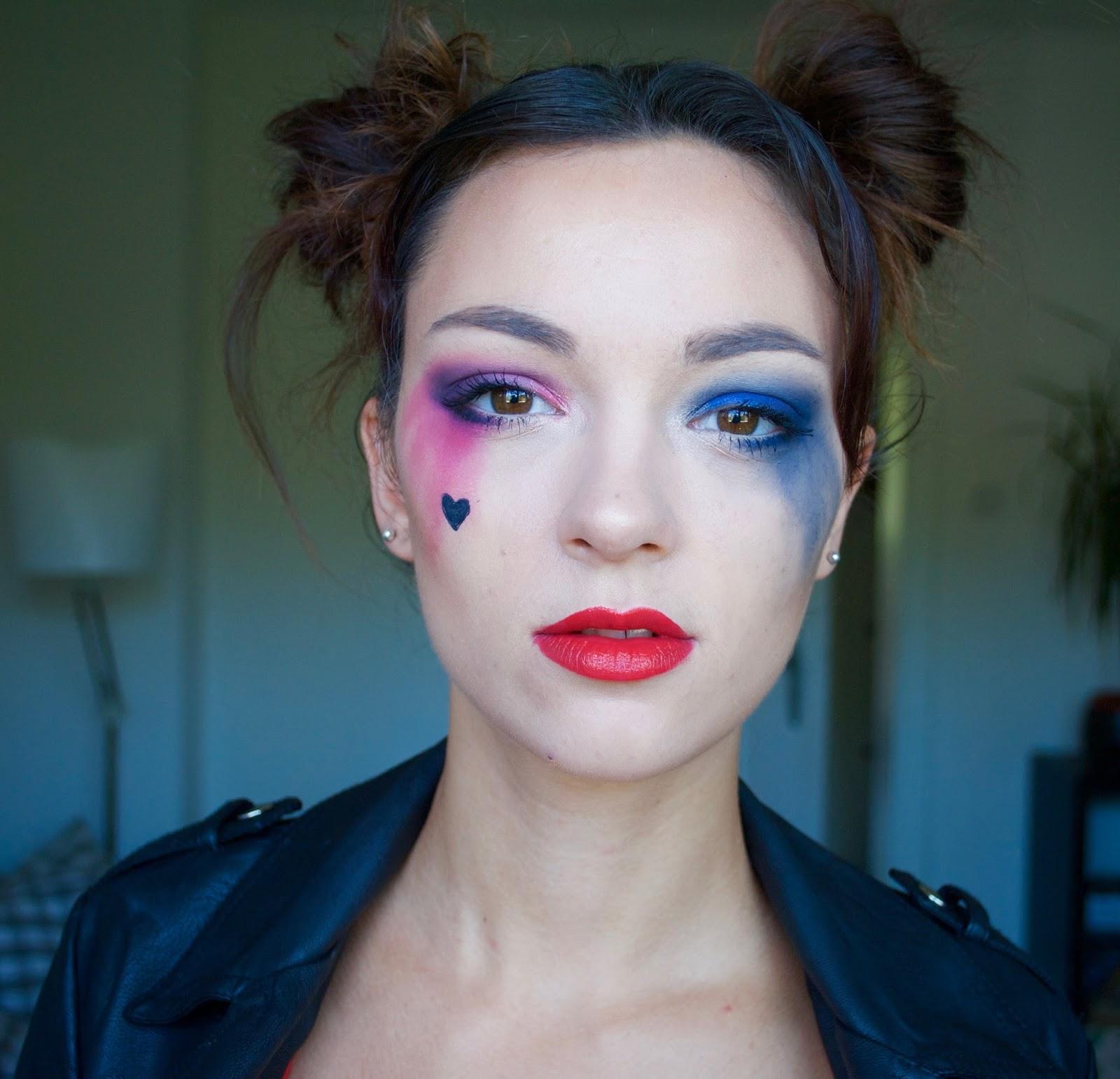 halloween makeup harley quinn adel channel youtube. Black Bedroom Furniture Sets. Home Design Ideas