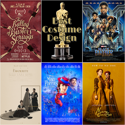 Best Costume Design 2019 Academy Awards predictions