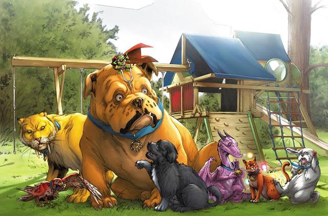 Anggota Pet Avengers baca komik pet avengers marvel