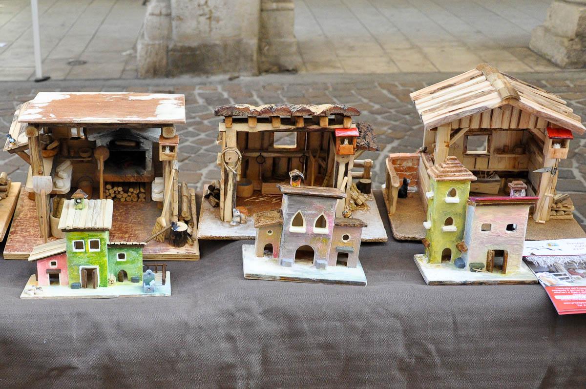 Handmade Nativity scenes, Old crafts festival, Corso Fogazzaro, Vicenza, Veneto, Italy