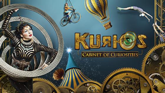 Tour dates for Cirque Du Soleil's KURIOS Cabinet of Curiosities in 2016 - 2017. Atlanta Georgia, Boston, Washington DC, New York City and Miami Florida!