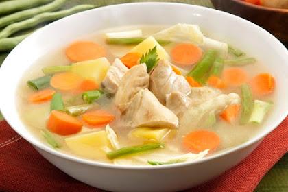 Masakan Anak Sup Ayam Bahan dan Cara Membuat Sup Ayam