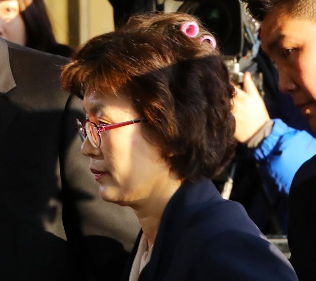 La jueza Lee Jung-mi a su llegada al Tribunal Constitucional
