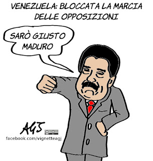 maduro, venezuela, manifestazioni, marcia del silenzio, opposizioni, vignetta, satira