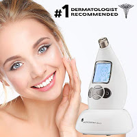 Microdermabrasion skincare system, Microderm GLO, recommended by dermatologists, safe for all skin types