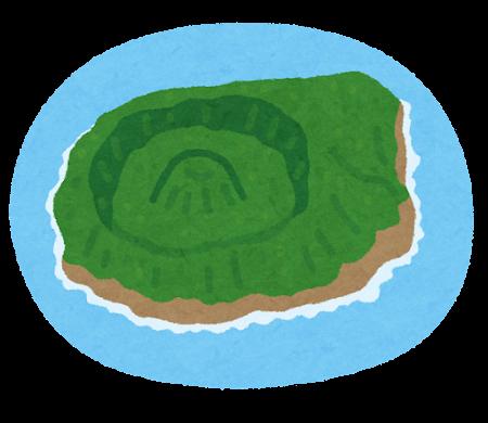 青ヶ島のイラスト