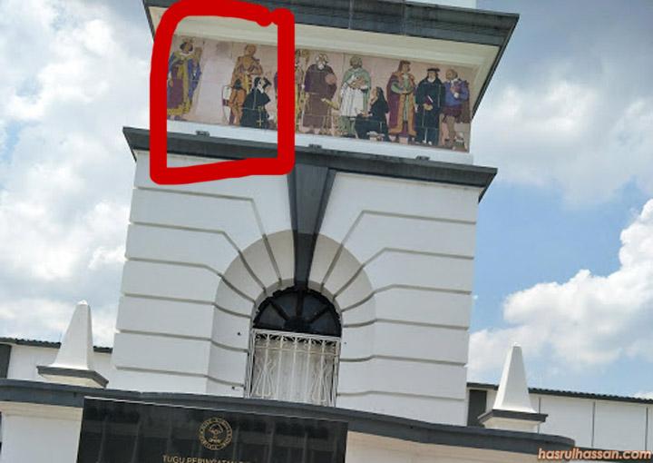 Figura pada Menara Memorial dikatakan Imej Nabi Muhammad