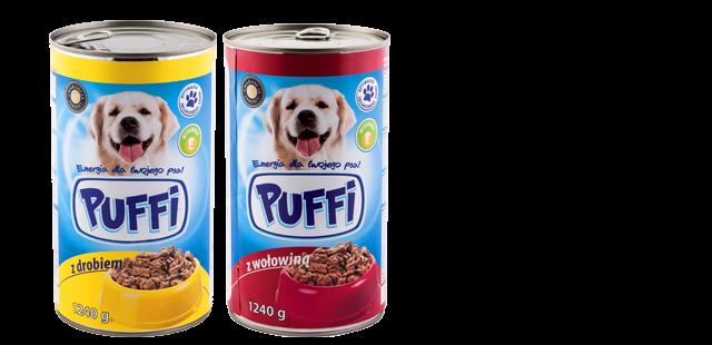Masywnie Karma dla psa puszka Puffi - Biedronka | Opinie produktu UG73