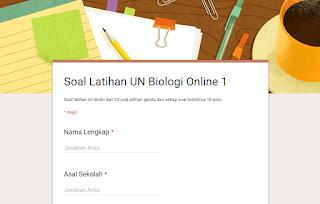 soal latihan UN Biologi SMA