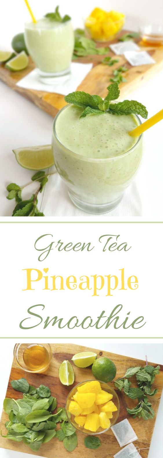 Allergy Busting Green Tea Smoothie #healthydrink #smoothie