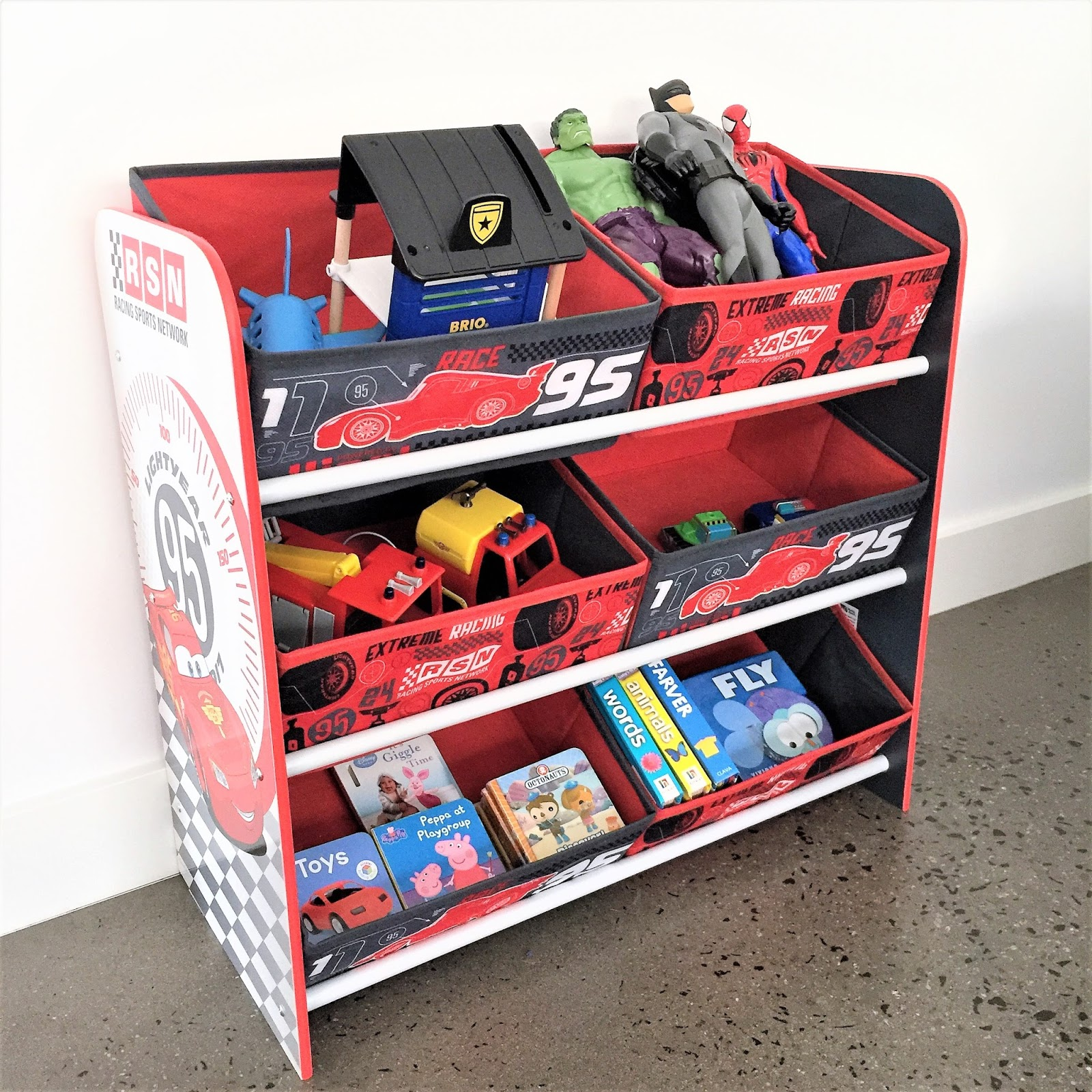 The storage bins can be used for all sorts of toys as well as a selection of lighter books so it is all neat and tidy and easy to find ... & PRODUCT REVIEW: WORLDS APART CARS 6 BIN STORAGE FROM CHILDSMART ...